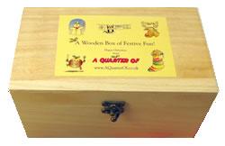 small wooden box of festive fun
