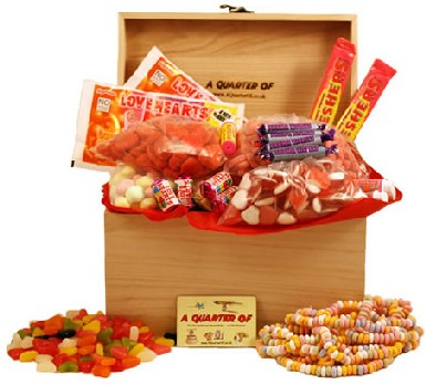 Hampers A Large Wooden Box of Sweet Devotion