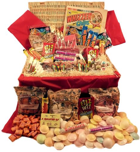 Giant Retro Sweet Hamper,Retro Sweet Hampers