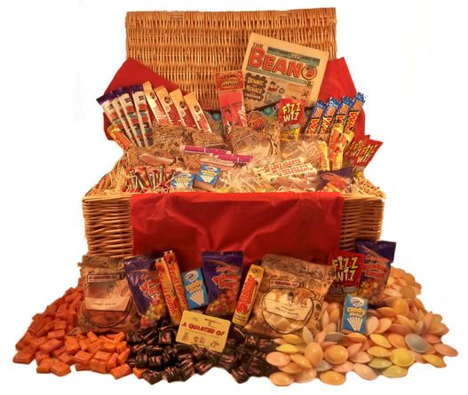 Jumbo Retro Sweet Hamper,Retro Sweet Hampers