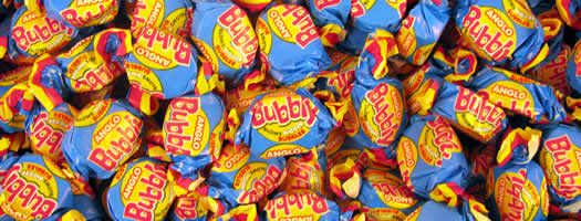ANGLO BUBBLY BUBBLE GUM,wrapped Chewy   Soft  Penny   Fun  Fruit  Gum  Bubblegum  Nostalgic  Pear  Chewy & Soft  Penny & Fun box boxes 1970 sweets,retro sweets,retro sweetshops,liquorice sweets,toffees,toffee sweets,boiled sweets