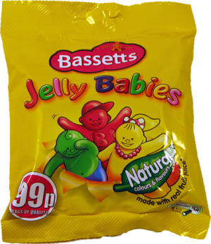 BASSETTS JELLY BABIES,Chewy   Soft  Fruit  Jelly  Nostalgic  Bassetts  Chewy & Soft sweets,retro sweets,retro sweetshops,liquorice sweets,toffees,toffee sweets,boiled sweets