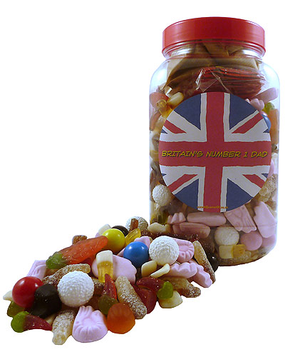 BRITAIN`S NUMBER 1 DAD RETRO SWEETS SELECTION JAR,,retro sweets,retro sweetshops,liquorice sweets,toffees,toffee sweets,boiled sweets