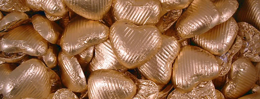CHOCOLATE HEARTS - MATT GOLD,gelatine-free gelatin free wrapped milk chocolate foiled hearts gold Choco Heaven  Gift Ideas  Hearts   Romantic  For Valentines Day  Chocolate  Wedding Sweets   Favours  Hearts & Romantic  Wedding Sweets & Favours  giftsforher,retro sweets,retro sweetshops,liquorice sweets,toffees,toffee sweets,boiled sweets