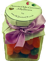 DINKY GLASS JAR - ASSORTED GOURMET JELLY BEANS,Miniature Glass Jar - Assorted Gourmet Jelly Beans Gift Ideas    Wedding Sweets   Favours   Wedding Sweets & Favours Gluten Free Gelatine Free Dinky,retro sweets,retro sweetshops,liquorice sweets,toffees,toffee sweets,boiled sweets