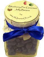 Dinky Glass Jar – Blueberry Pie Gourmet Jelly Beans