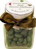 Dinky Glass Jar – Granny Smith Apple Gourmet Jelly Beans