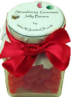 Dinky Glass Jar – Strawberry Gourmet Jelly Beans