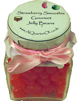 Dinky Glass Jar – Strawberry Smoothie Gourmet Jelly Beans