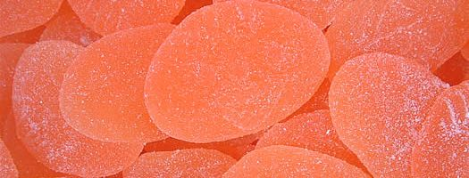 GIANT PEACHES, Chewy   Soft  Fruit  Jelly  Cream  Peach  Chewy & Soft  sweets,retro sweets,retro sweetshops,liquorice sweets,toffees,toffee sweets,boiled sweets