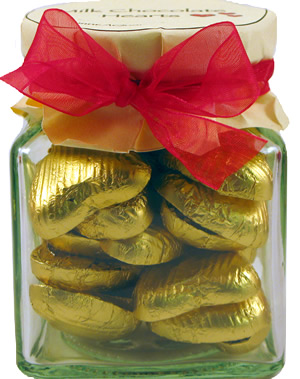 Glass Gift Jar of Chocolate Hearts – Matt Gold
