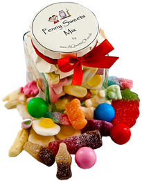 Glass Gift Jar – Penny Sweets Mix