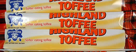 HIGHLAND TOFFEE,gelatine-free gelatin free wrapped Chewy   Soft  Toffee  Bars   Wrapped  Nostalgic  Mccowans  Chewy & Soft  Bars & Wrapped box boxes sweets,retro sweets,retro sweetshops,liquorice sweets,toffees,toffee sweets,boiled sweets