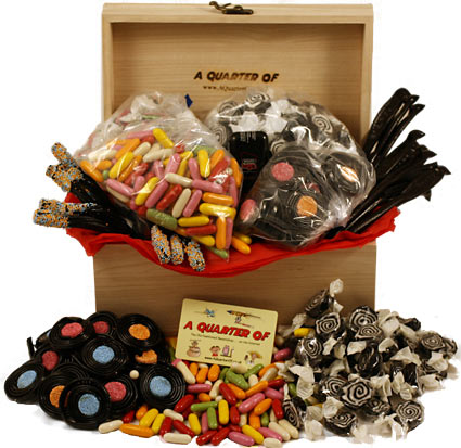 I LOVE LIQUORICE WOODEN BOX,liquorice liquorish black liquorice assortment ,retro sweets,retro sweetshops,liquorice sweets,toffees,toffee sweets,boiled sweets