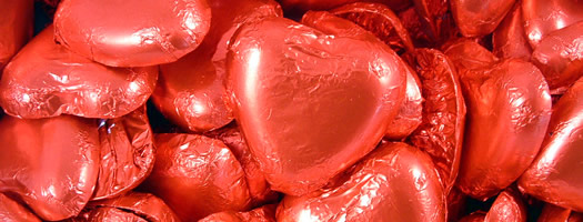 Large Chocolate Hearts – Red