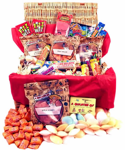 RETRO SWEET HAMPER,hamper corporate gift present wicker christmas composite diddy retro sweet hamper corporate sweet hampers giftsforhim giftsforher,retro sweets,retro sweetshops,liquorice sweets,toffees,toffee sweets,boiled sweets