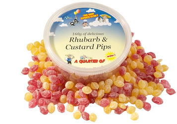 Rhubarb and Custard Pips