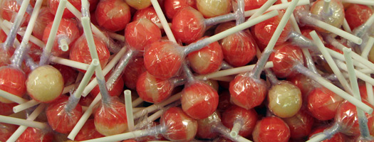 Strawberry and Cream Lollies