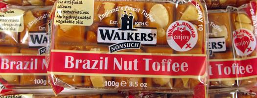 Walkers Brazil Nut Toffee Slabs