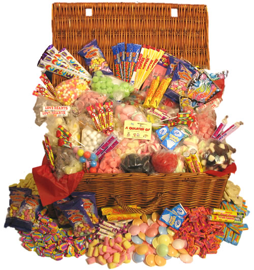 Perfect Presents For Men - A Whopping Hamper Of Retro Sweets