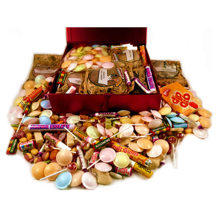 Personalised 1960s Decade Box of Retro Sweets