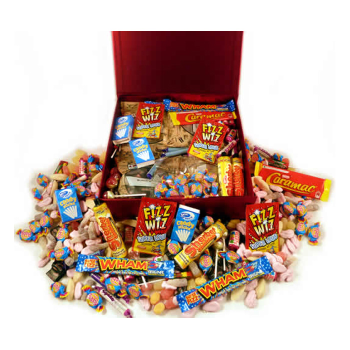 Personalised 1980s Decade Box of Retro Sweets