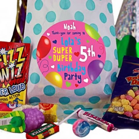 Blue Party Bags of Sweets for Girls