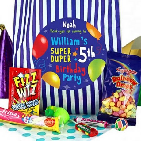 Blue Party Bags of Sweets for Boys
