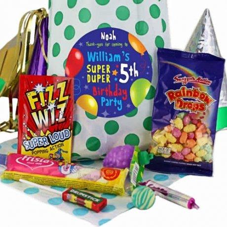 Green Party Bags of Sweets for Boys