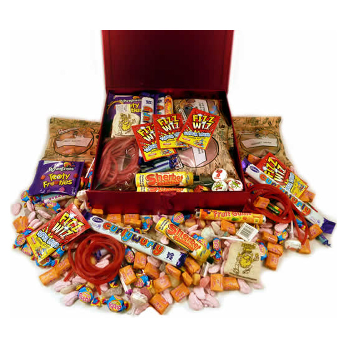 Personalised 1970s Decade Box of Retro Sweets
