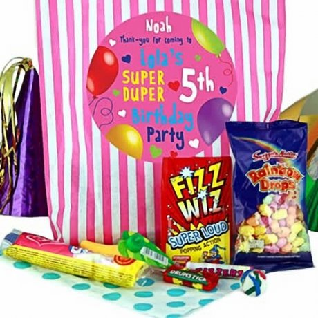 Pink Party Bags of Sweets for Girls