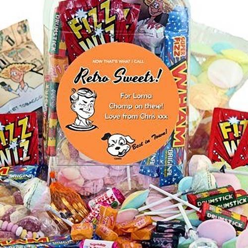 Personalised Jar of Retro Sweets