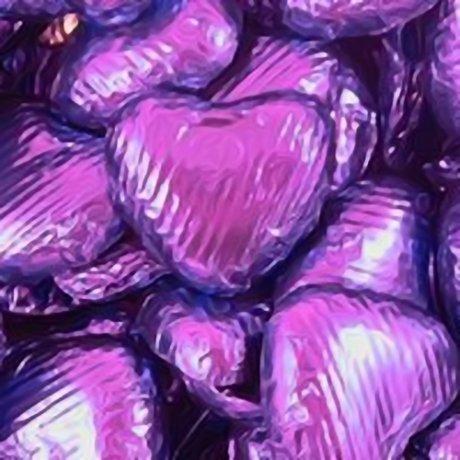 Purple Chocolate Hearts