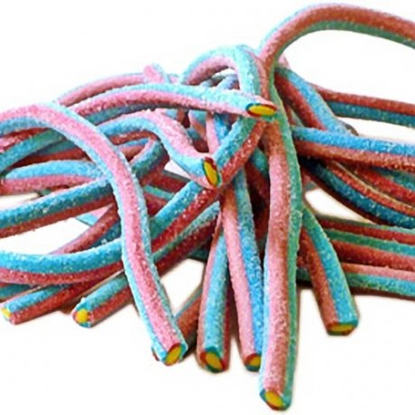 Giant Fizzy Red Blue Raspberry Cables