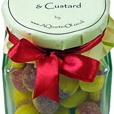 Rhubarb and Custard Glass Gift Jar