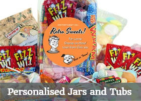 personalised gifts jars and tubs
