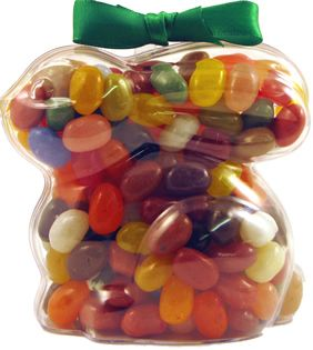 Assorted Gourmet Jelly Bean Bunny - Crouching