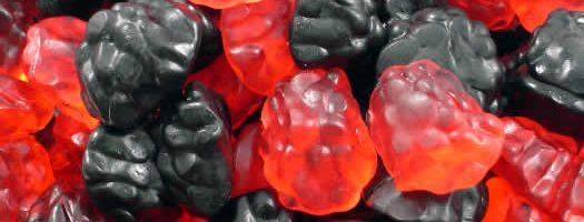 Jelly Blackberries and Raspberries