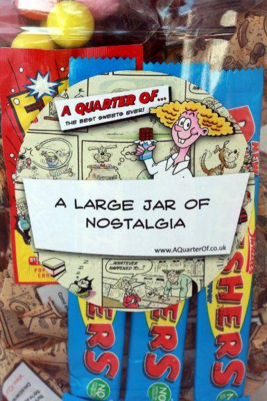 NEW - A Large PERSONALISED Jar of Nostalgia