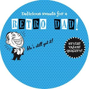 Retro Gift Tags for Dad